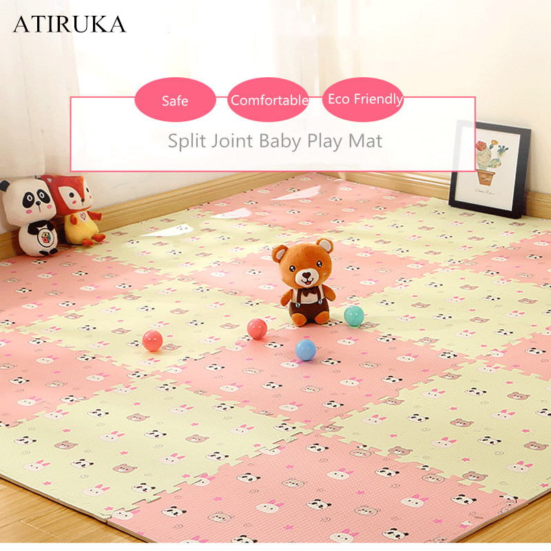 EVA Foam Children's Mat Split Joint Baby Play Mat Puzzle Cartoon Panda Patterns Soft Floor Carpet For Baby Crawling Exercise