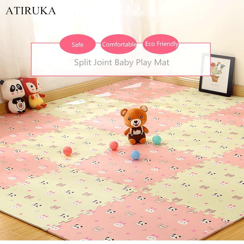 EVA Foam Children's Mat Split Joint Baby Play Mat Puzzle Cartoon Panda Patterns Soft Floor Carpet For Baby Crawling Exercise