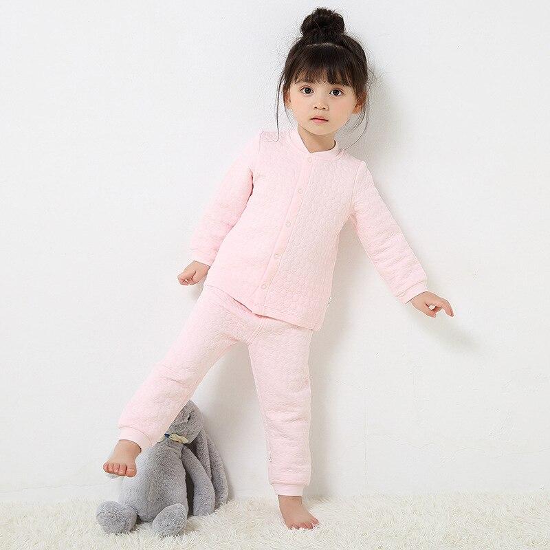 2017 Baby Tragen Suit Kleinkind Jungen Warme Seide Baumwolle Gepolstert Kleidung Set Langarm Strickjacke Tops & Gabelung Eröffnung Hosen Gut FüR Energie Und Die Milz