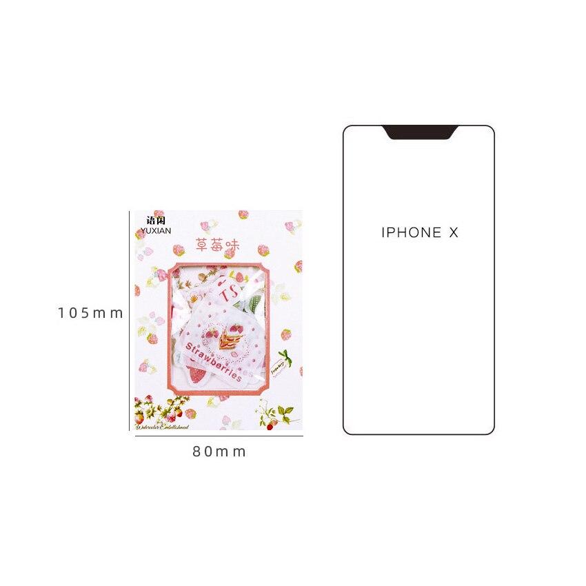 Купить с кэшбэком 40pcs/lot Kawaii Pink flower Fruits Flamingo Stickers DIY Scrapbooking Diary Album Stick Label Party Decor