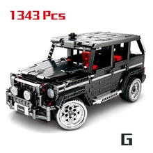1343Pcs Technic Series Toy Benzes Big G Car Set Building Blocks City Vehicle DIY Bricks Children Toys Boy Gifts lepin 20055 1180pcs technic mechanical series the rescue vehicle set 42068 children educational building blocks bricks toy gift