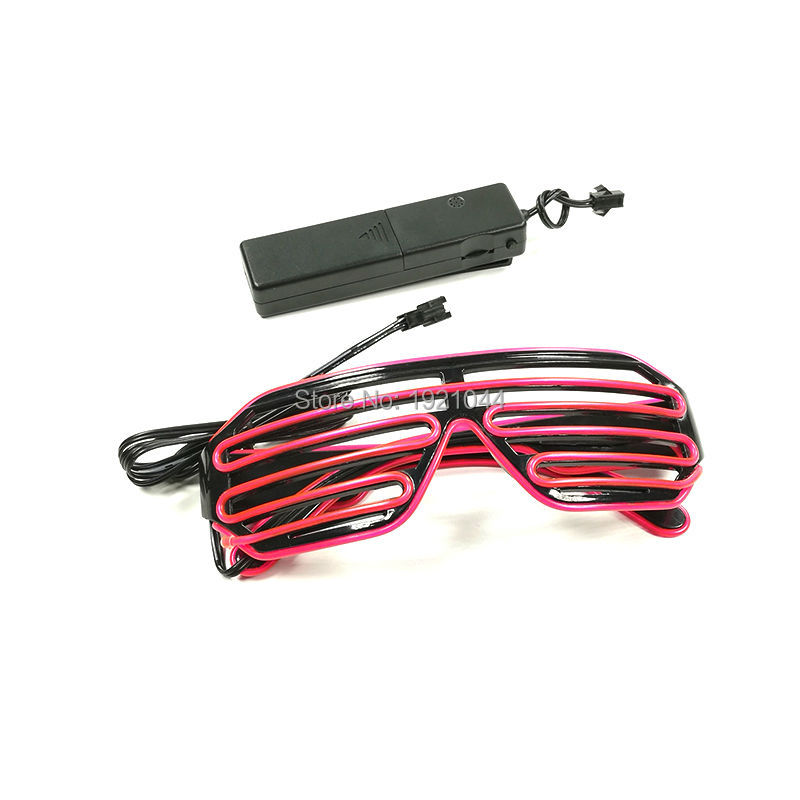 10 Colors Choice EL Wire LED Glasses With Sound Active Inverter Luminous Colorful Glowing Toys For Dance DJ Party Decoration