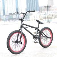 Steel Frame 20 Inch BMX Bike Unisex Performance Bike Orange Red Tire Non Folding Bike For