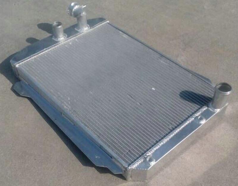 High Performance Aluminum Radiator For Chevy 1939 Street Rod 350 5 7 V8 W Tranny Cooler