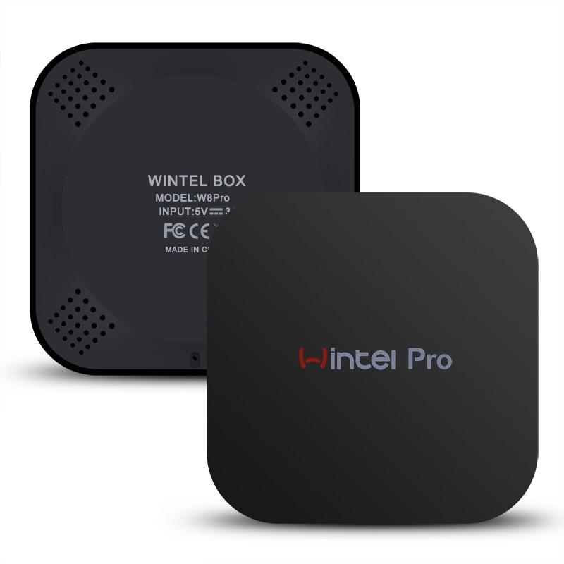 Wintel Pro TV Box Windows 10 Android In tel Z8300 Quad core 2 4GHz WiFi Bluetooth