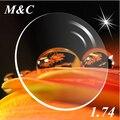 Нет Burden1.74 Ультра Высокий Индекс Тонкий Асферических Оптических Линз Для Близорукости Очки с бесплатным резки слуёбы