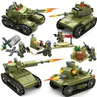 KAZI 84055 Military Soldiers Primary Battle Building Blocks Tanks Model lys Military Tank Toy