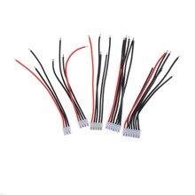 5 adet/grup 2S 3S 4S 5S Lipo pil dengesi şarj kablosu IMAX B6 konnektörü fiş tel 22AWG 100mm JST XH dengeleyici kablo