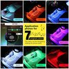 Car RGB LED Neon Interior Light Lamp Strip Decorative Atmosphere Lights Wireless Phone APP Control For Android IOS Kit Foot Lamp 4