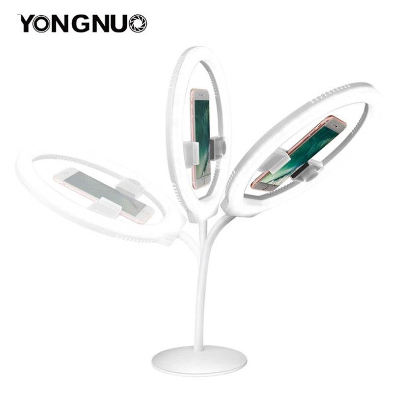 YONGNUO YN128 caméra Photo/Studio/téléphone/vidéo 128 LED anneau lumineux 3200 K 5500 K photographie Dimmable anneau lampe-in Éclairage photographique from Electronique    1
