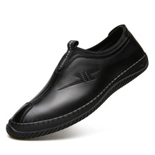 Купить с кэшбэком Spring/autumn genuine leather men shoes adult breathable mens shoes casual shoes men