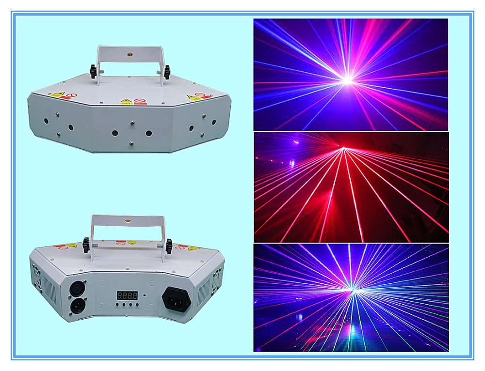 Rasha New Arrival Moonflower 6 Holes 300MW RGB Full Color Laser Fat Beam Light For DJ Event Party Light Laser Beam Effects