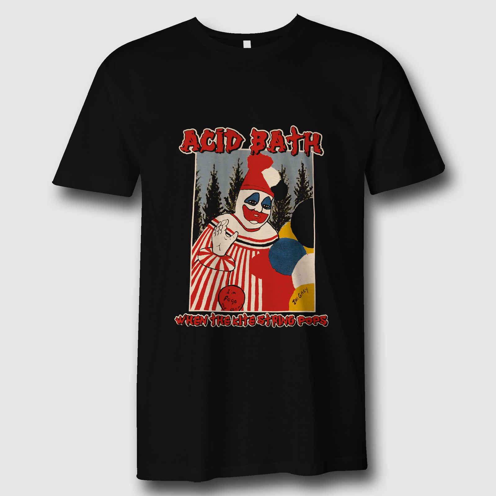 ACID BATH Tee When The Kite String Pops Black T-Shirt Men's And WomenNew Fashion Men T shirts
