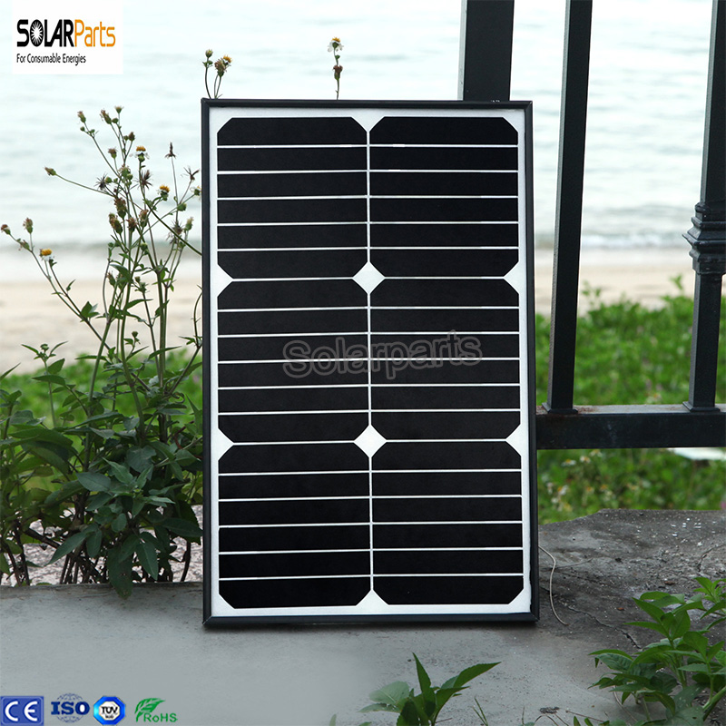 Boguang18W monocrystalline silicon Solar Panel with glass frame Cell solar Module waterproof for outdoor charging solar-panel 100w 12v monocrystalline solar panel for 12v battery rv boat car home solar power