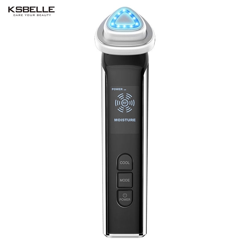 Ksbelle RF devices Face Wrinkle removing Wireless Skin Lifting home use Radio Frequency therapy machine rechargeable RF machine ksbelle home use radio frequency facial wrinkle remover anti aging skin rejuvenation rf skin lifting machine