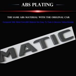 Image 3 - Черная плоская 3D наклейка эмблема W176 W177 A45 A180 A200 A250 Автомобильные буквы задняя звезда багажника 4matic Эмблема для Mercedes Benz AMG