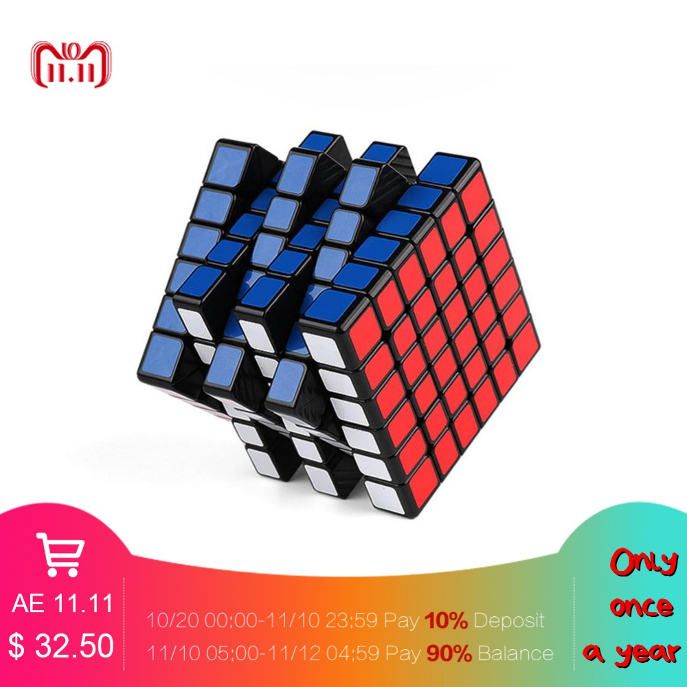 RCtown MOYU AOSHI GTS M 6X6 Cube Magnetic Magic Speed Cube Sticker Professional Puzzle Cube Toys for Children leadingstar moyu aochuang gts m 5x5 magnetic smart cube magic cube speed puzzle cubes educational toys for children