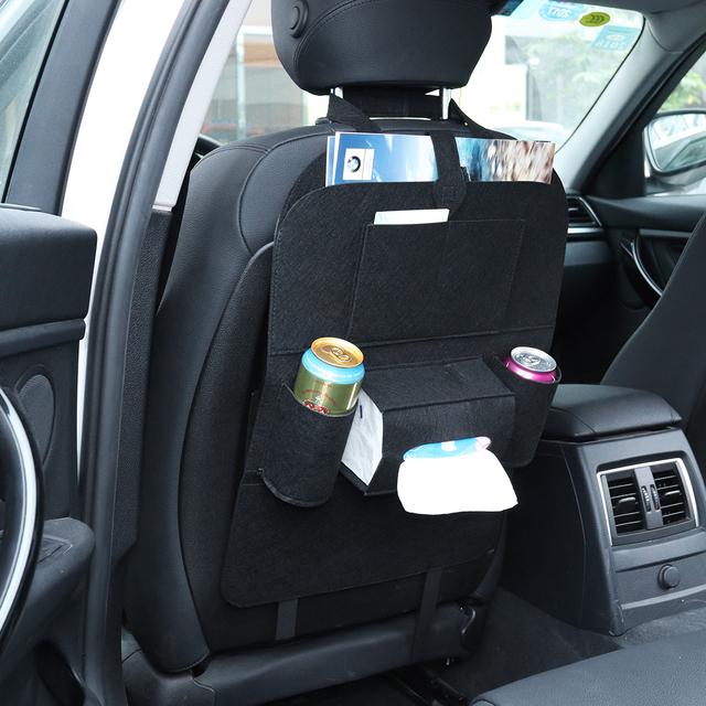 1 unidad bolsa de almacenamiento de coche caja colgante bolsa de asiento trasero organizador de asiento trasero bolsillos de coche-estilo Protector de Auto Accesorios para chico