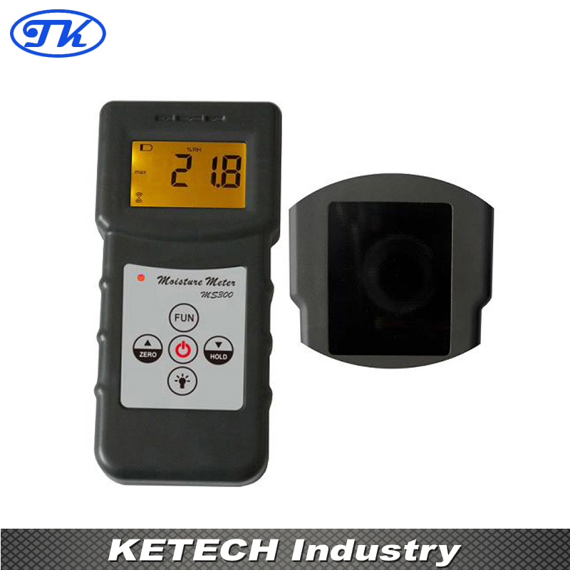 MS300 10 Kinds Material Moisture Meter mc 7806 digital moisture analyzer price with pin type cotton paper building tobacco moisture meter