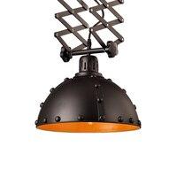 European style black adjustable retractable ceiling lamp retro loft iron restaurant bedroom coffee shop ceiling light ZA9201