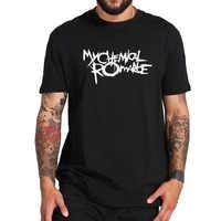 My Chemical Romance T Shirt Punk bande signe lettre imprimé hauts confortable manches courtes Homme EU taille 100% coton Harajuku t-shirts
