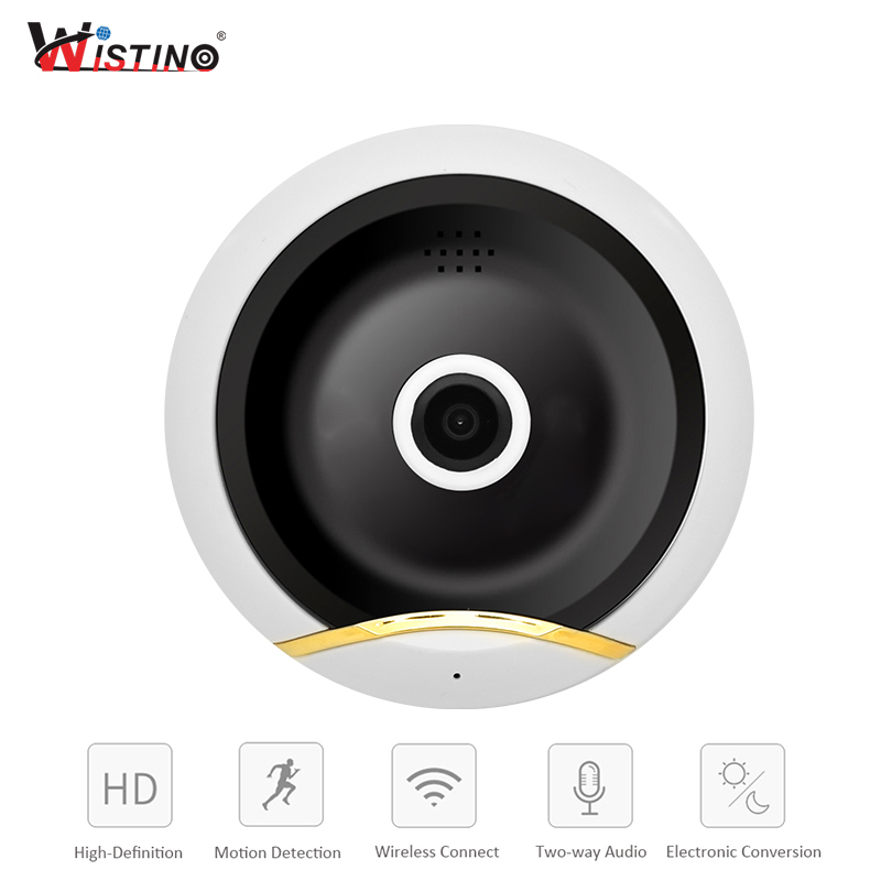 Wistino HD960P VR WIFI Camera 360 Degree CCTV IP Camera Wireless Security Mini Smart Home Baby Monitor Video Camera Night Vision wistino cctv 1080p ip camera wifi baby monitor wireless panoramic vr camera security baby video monitor audio ptz night vision