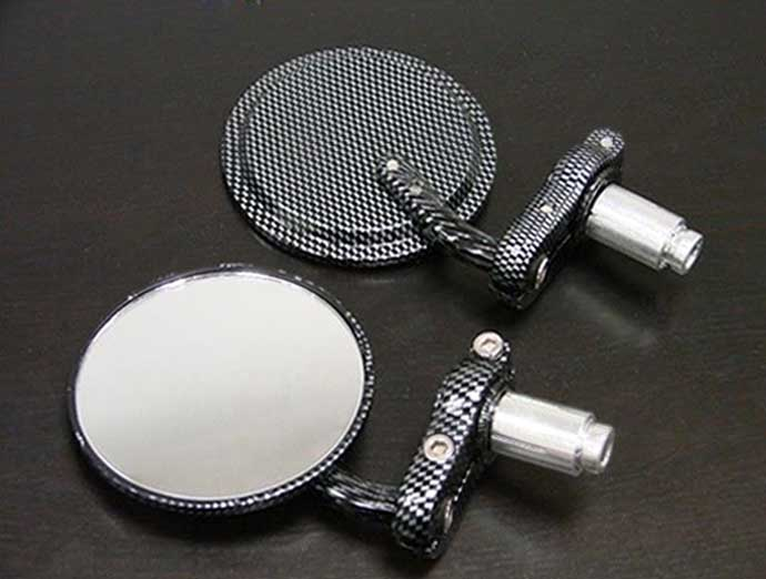 Brand new Black / Carbon Fiber Bar End Mirrors Round 3 Convex Mirror 7/8 For KTM Duke 620 640 690