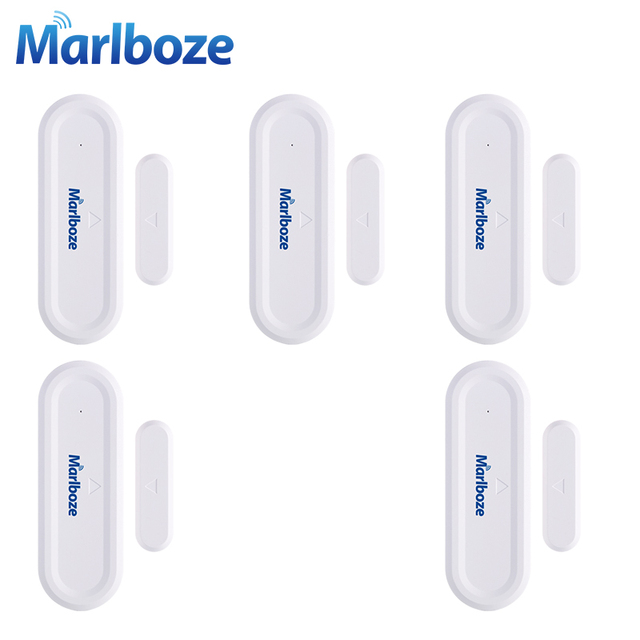 5pcs Marlboze 433MHZ Universal Wireless Door Window Security Gap Sensor for Our 433mhz Home Security GSM PSTN WIFI Alarm System