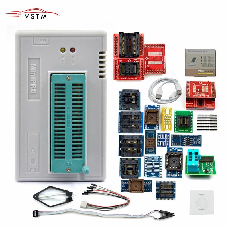 Original TL866 Plus II USB Universal Programador EEPROM FLASH com 24/25/28 Adaptadores Programador De Alta Velocidade Livre grátis