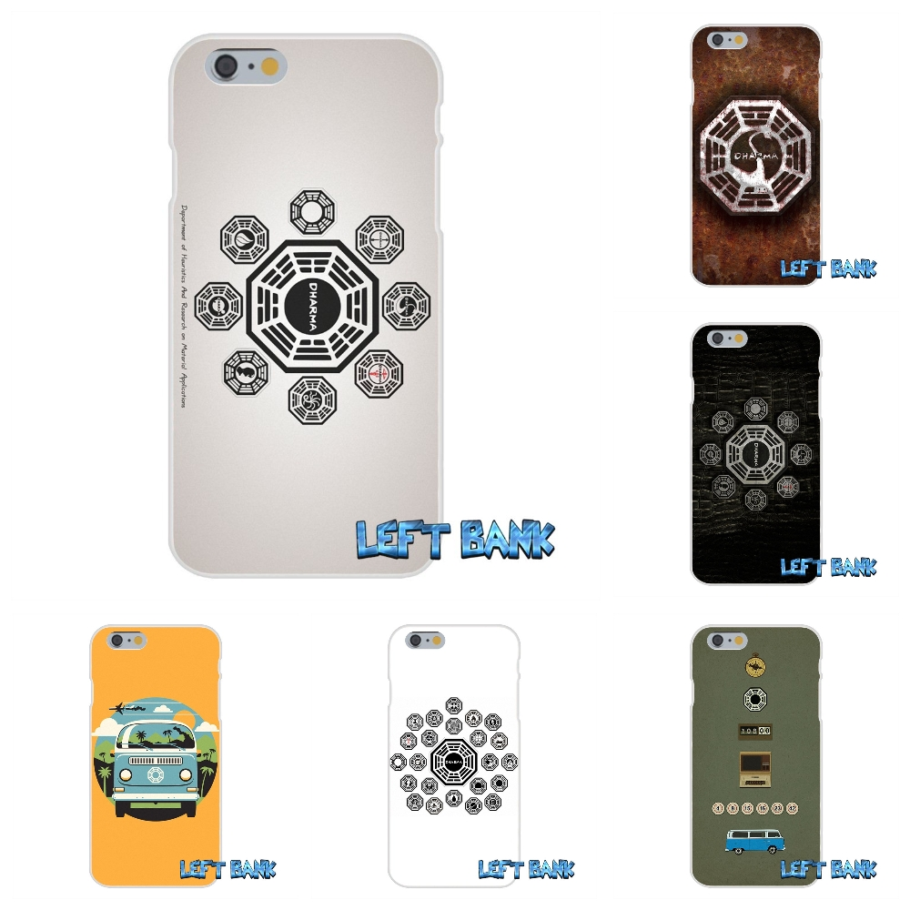 For iPhone 4 4S 5 5S 5C SE 6 6S 7 Plus lost tv series dharma logo Soft Silicone TPU Transparent Cover Case