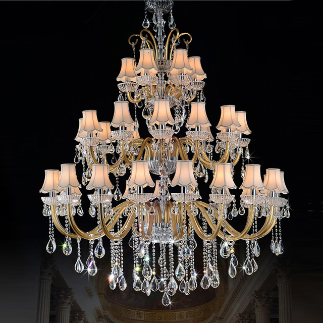Large Chandeliers For Foyer Modern Chandelier Crystal High Ceiling Lighting Home