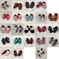 Bebé recién nacido Soft Sole Zapatos de Cuero Infantil Niño Niña Niño Mocasines 0-24 M