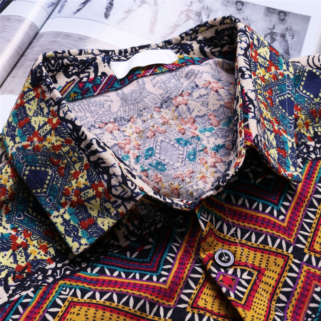 Casual Fashion Short Sleeve Button Down Shirts 4