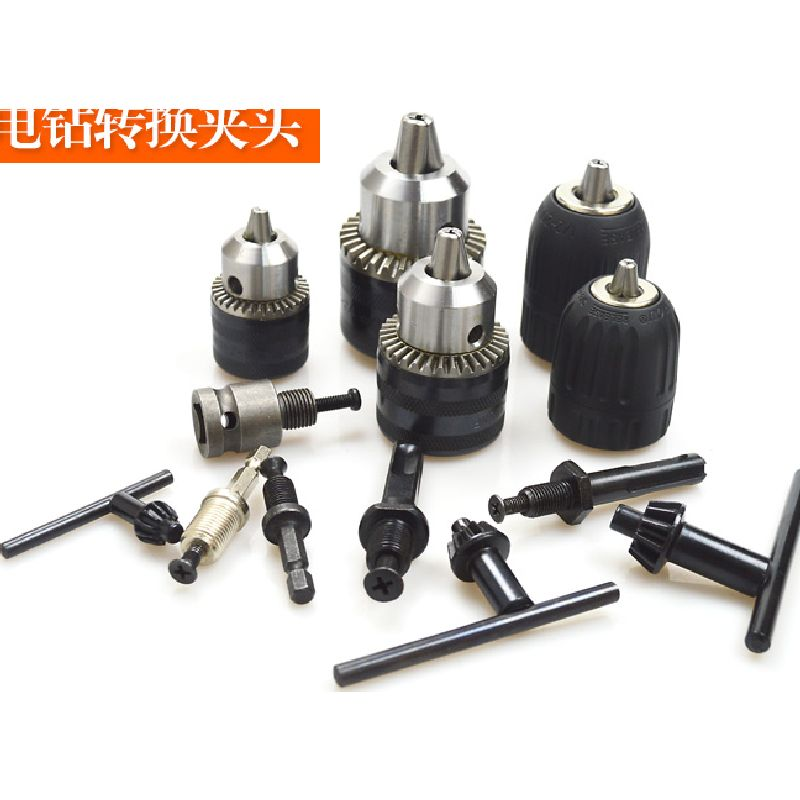 Electric Hammer Drill Churn Drill Hand Electric Drill Chuck Automatic/Manual Lock Angle Grinder Adapter Converter Connection Rod right angle drill attachment three jaw chuck key adapter handle accessory tool