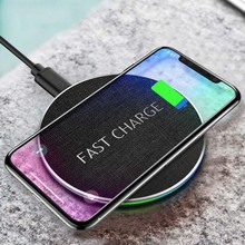 10w Qi Wireless Charger For iPhone 8 Plus X XR XS Max Fast Wireless Charging for Samsung S9/S8/S7/S6 Edge Note 9 USB Charger Pad wireless charger for iphone x 8 plus 10w wireless charging for samsung galaxy s8 s9 s7 edge qi usb wireless charger pad