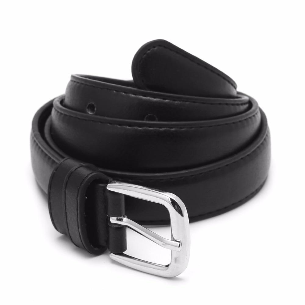 Women Female Fashion Antique Black Belt Waist Belt Waistband Metal Alloy Buckle Jeans 110cm Durable 2017 PU Leather New Hot