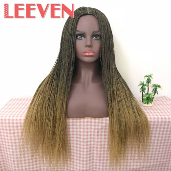 Leeven 22inch synthetic Senegalese 2x twist  Million braided none lace front wig for woman High temperature fiber Cosplay Hair