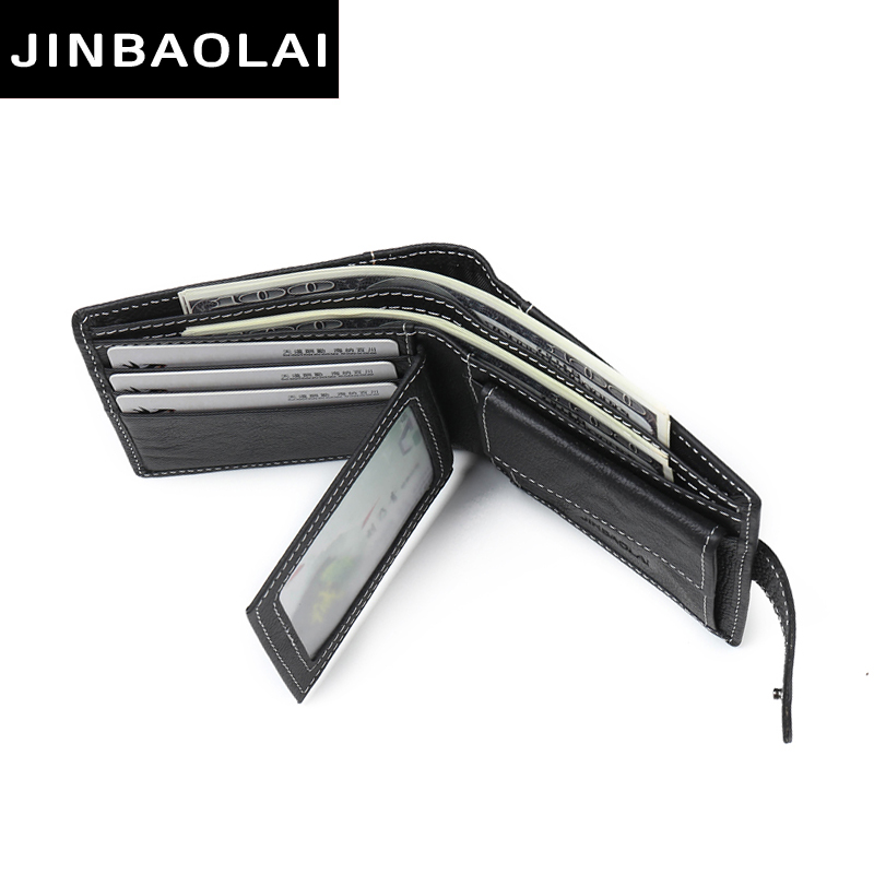 bolsa de moeda jinbaolai masculino Main Material : Cow Leather For Men Wallets
