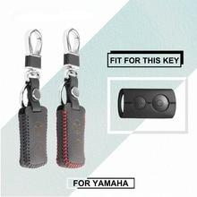 Чехол для ключей из натуральной кожи для yaama NVX155 QBIX AEROX JAUNS XMAX300 2 кнопки брелок для ключей