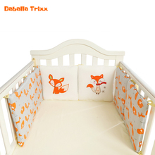2018 Baby Bed Bumper Infant Crib Bumpers Pads Baby Bedding Set Protector Cushions Pillows for Baby Room Cotton 30cmx30cmx6 Pcs(China)