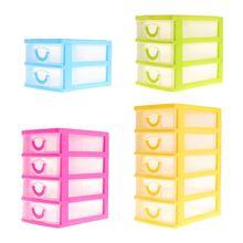 Jewelry Storage Box 2/3/4/5 Layer Plastic Organizer Case Headdress Drawer Desk Packaging & Display Tool
