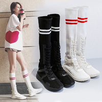 Autumn new socks shoes women casual long tube socks boots women fashion casual college wind sports shoes women high shoes