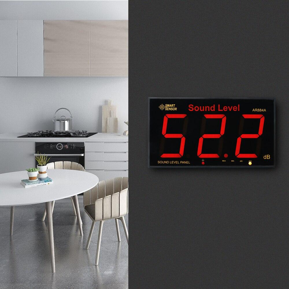 Цифровой измеритель уровня звука с будильником, ЖК-экран, дБ измеритель децибел, мониторинг, тестер, измеритель уровня шума, измерительные п...