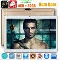 DHL бесплатная доставка 10 дюймов Tablet PC Окта основные 4 ГБ ОПЕРАТИВНОЙ ПАМЯТИ 32 ГБ/64 ГБ ROM Две СИМ-Карты Андроид 5.1 GPS 3 Г WCDMA Таблетки PC + Подарки