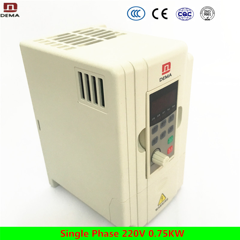 цена на DEMA D5M Series AC Motor Drive 1 Phase Variable Frequency Inverter 0.75KW 60hz 50hz 220V VFD variable frequency Inverter