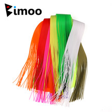 Bimoo 40 Strands/Pack 30CM Micro Silicone Rubber String For Soft Worm Trout Fly Legs Fishing Jig Lure Skirts Fly Tying Material(China)