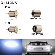 2pcs 3020 22SMD Ba15s Bay15d White 12V Led Backup Wedge Lamp Tail Bulb Car LED Brake Turn Light Parking Lamp Auto  free shipping цена 2017
