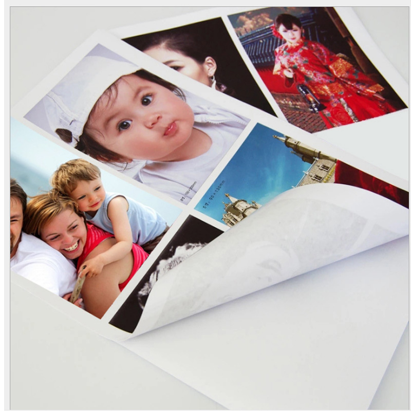 135g 150g A4 50sheets A6 100sheets High Glossy  Self Adhesive Inkjet Printing With Back Glue Sticker Photo Paper