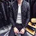 Мужская куртка-бомбер  черная или серая куртка для вечеринок  Клубная куртка-бомбер  осенняя жаккардовая куртка  4XL  2019