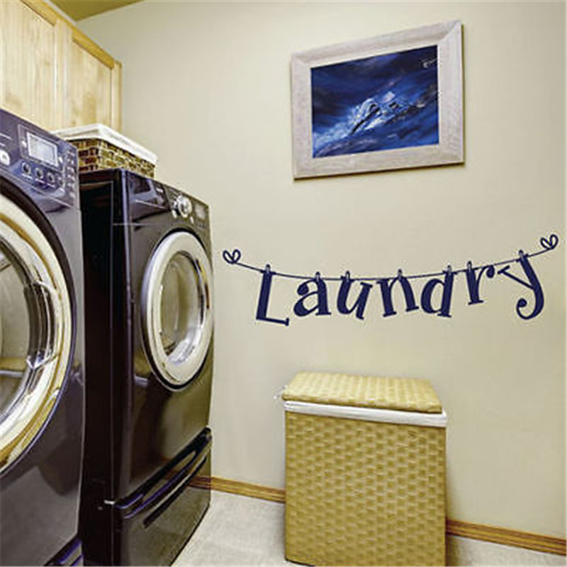 Laundry Wall Sticker Art Decal Vinyl Stickers Lettering DIY Laundry Room  Decor Removable In Wall Stickers From Home U0026 Garden On Aliexpress.com |  Alibaba ...